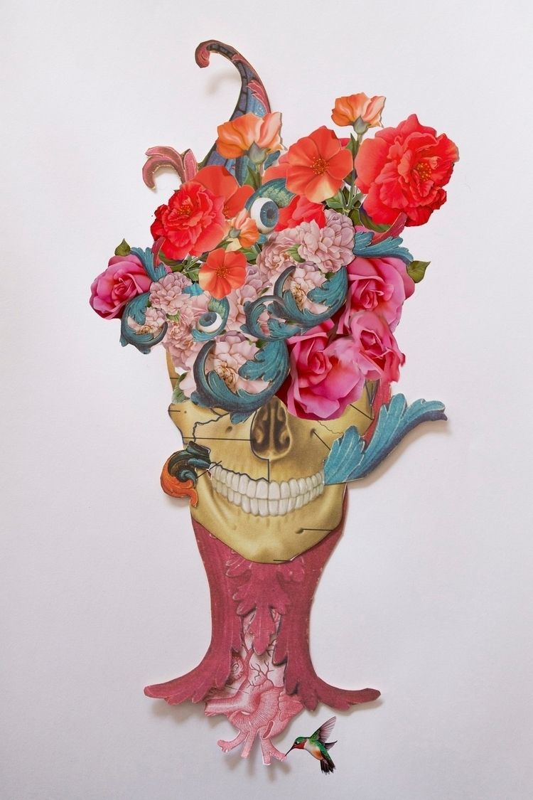 Posthuman - collage, flower, heart - franalvez | ello