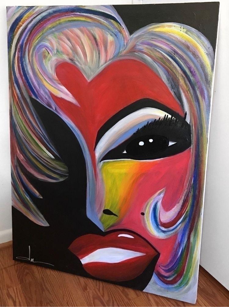 "Marilyn   30 40"" vibrant/abstra - desireemvrtinez   ello"