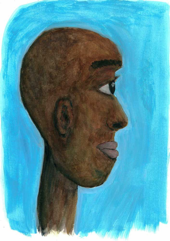 'Blue sky' Gouache , Oil painti - jillrobbimagery | ello