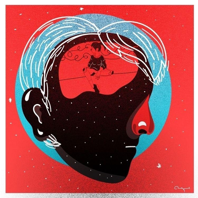 spent time head - Illustration, Art - adrianaduque | ello