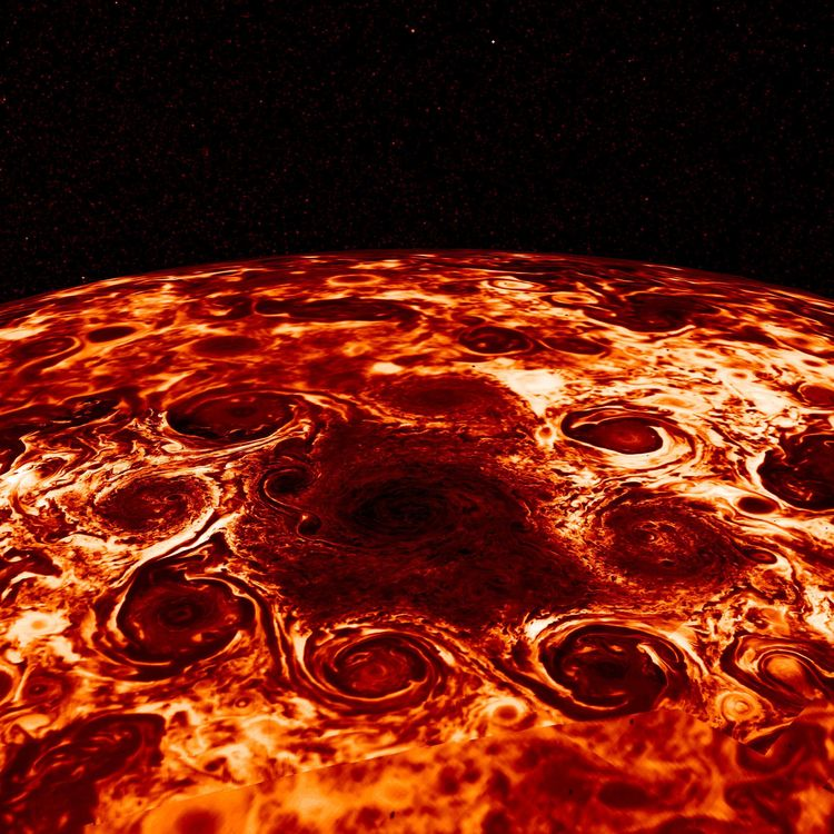 Cyclones North Pole - jupiter, cyclones - valosalo | ello