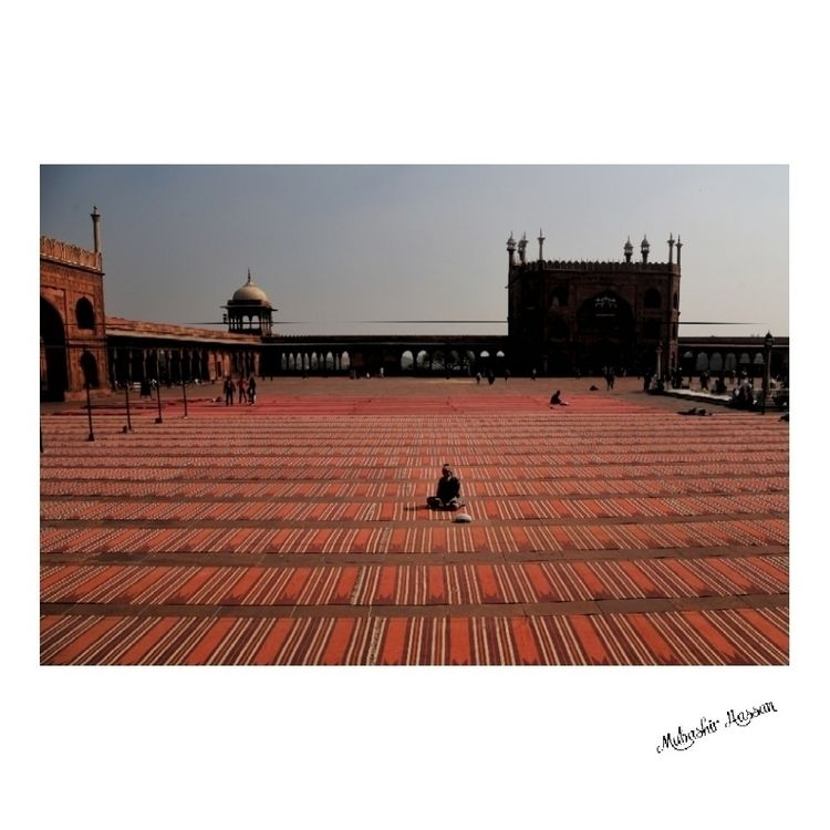 Worshipper rests prayer rugs Ma - mubashirhassan | ello