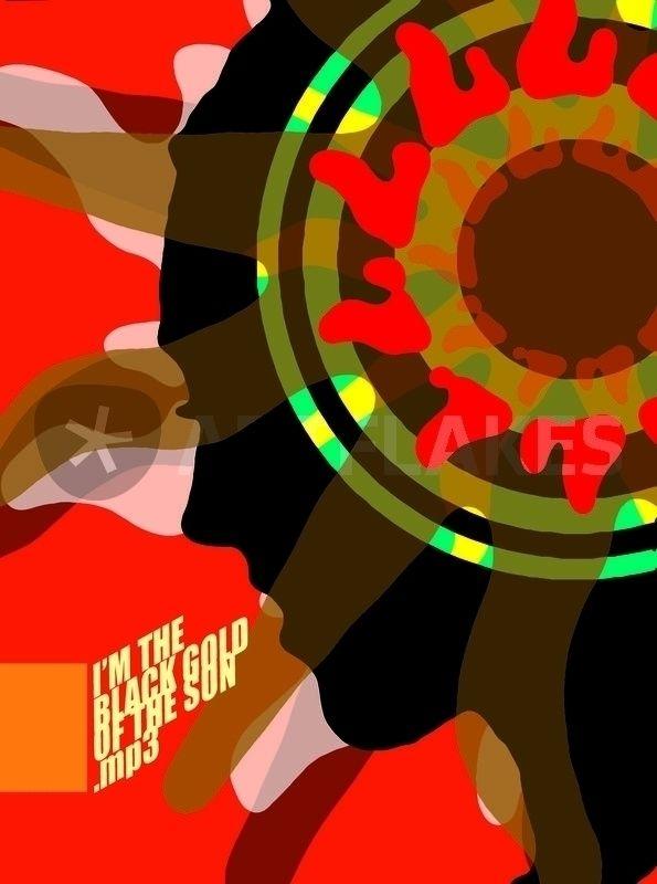 black gold sun - woman, flower, listening - petro5va5iadi5 | ello