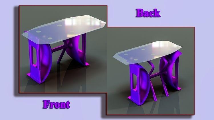 full Vaporwave desk design - furniture - ke7dbx | ello