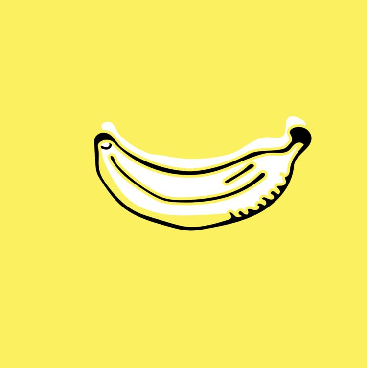 banana, illustration, minimal - bygraceho | ello