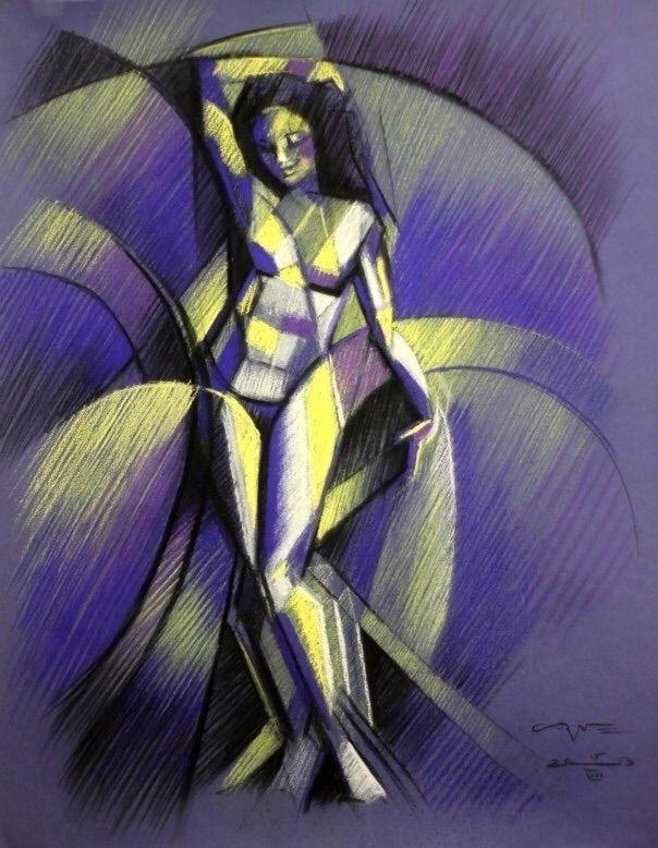 Cubistic nude 05 (2013) (sold)  - corneakkers | ello