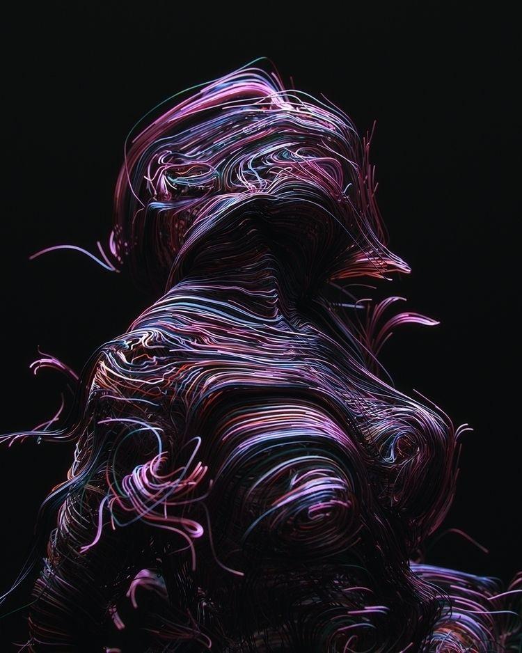 ''Dimensions - c4d, houdini, surreal - darioveruari   ello