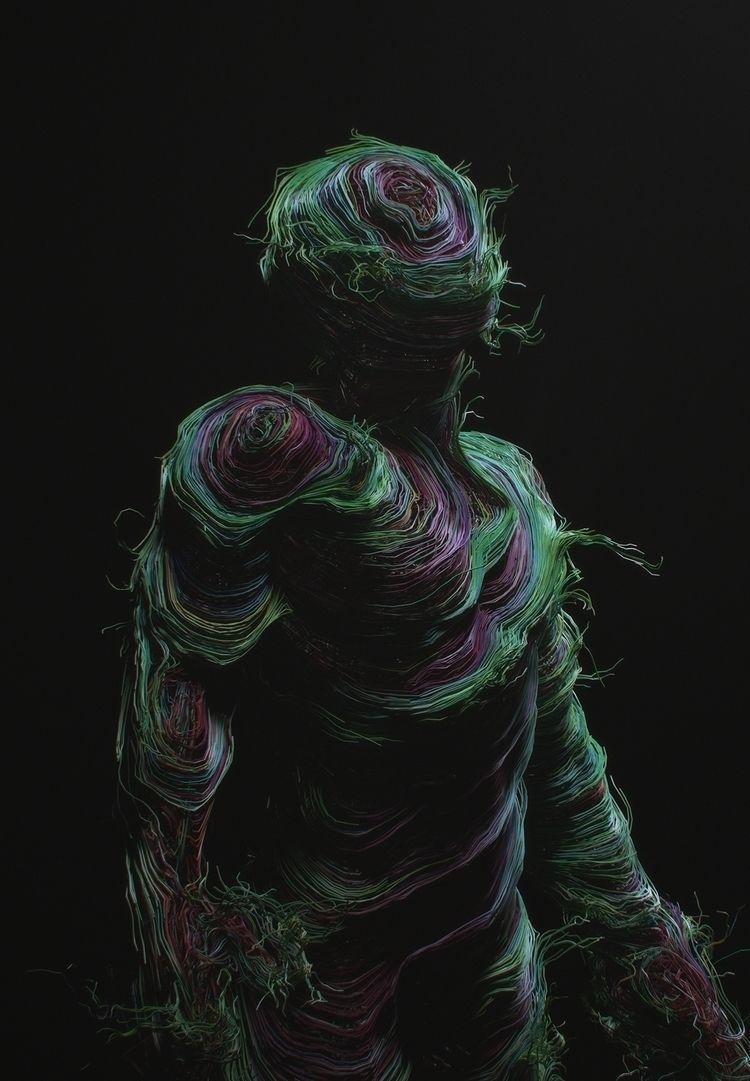 ''Dimensions - c4d, houdini, surreal - darioveruari | ello