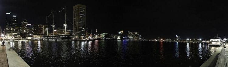 Harbor night panorama. Baltimor - joshhugley | ello