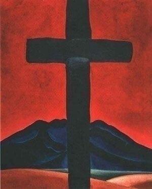 Georgia - Cross Red Sky, 1929 - georgiaokeeffe - janeyumback | ello