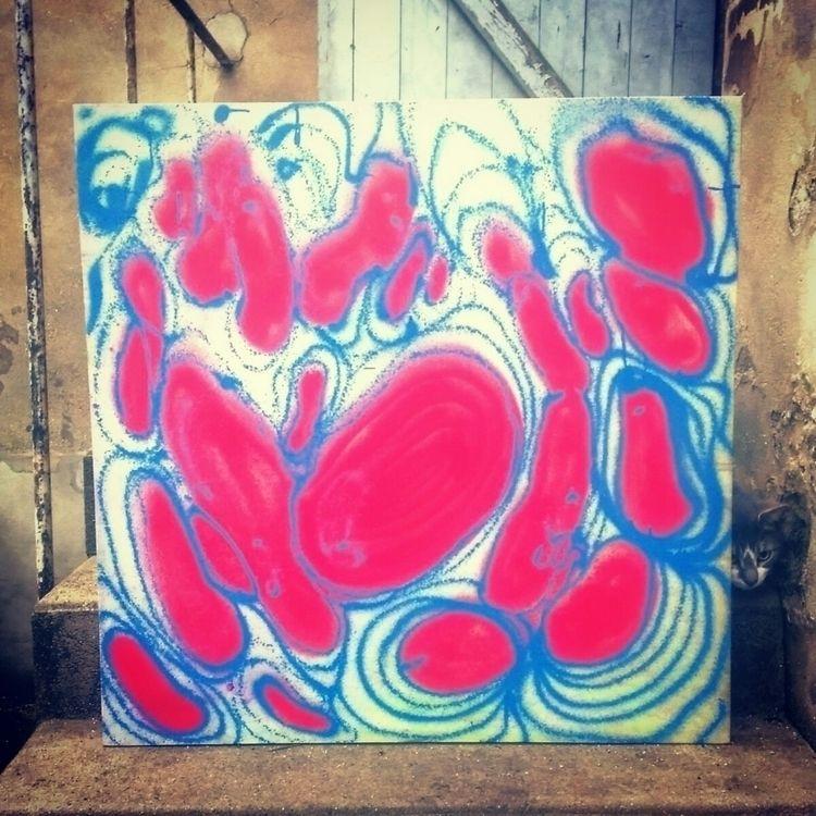 Enfin à - spraycan, canvas, pink - stupdeven | ello