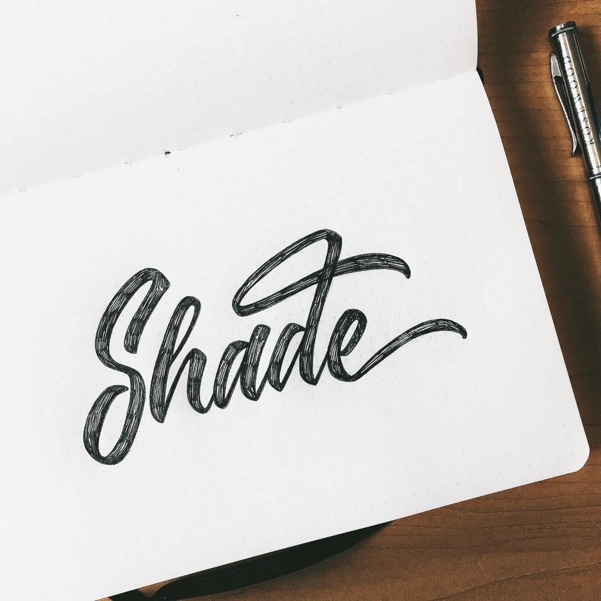 Throwing shade today - lettering - chuckchai | ello