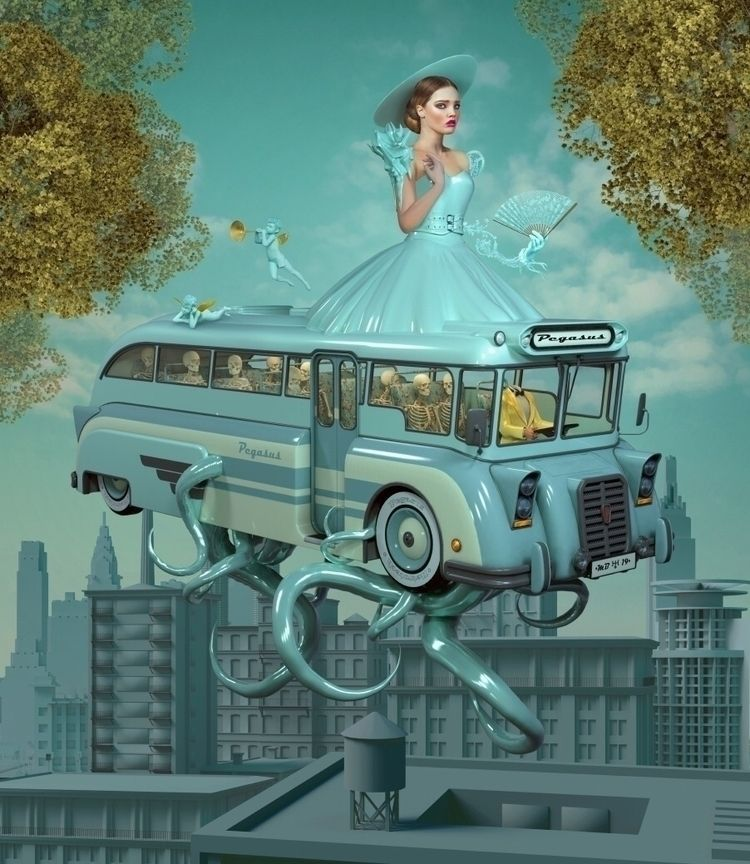 Uranus - popsurrealism, lowbrow - nathaliasuellen | ello