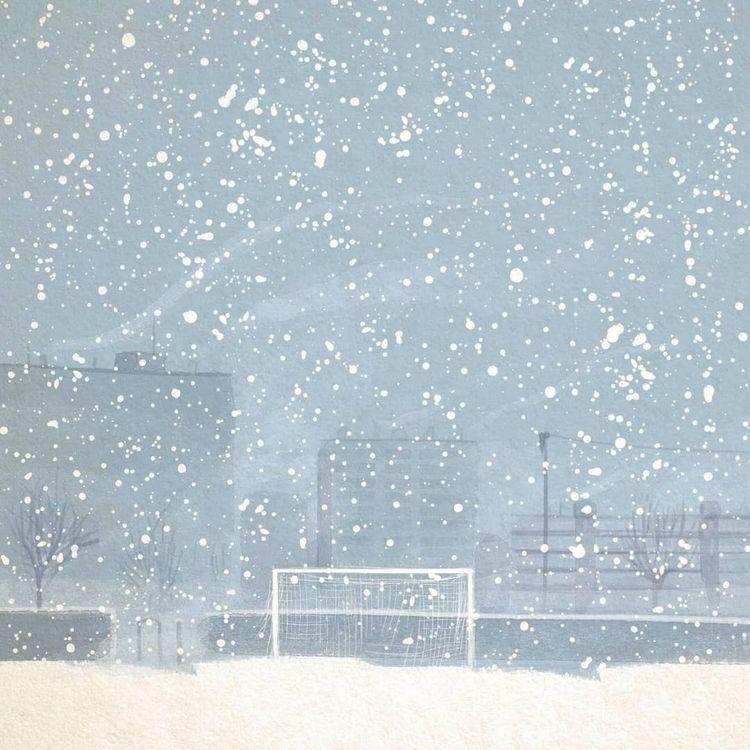 Snow Sweden / Pencil paper digi - paolocastaldi | ello