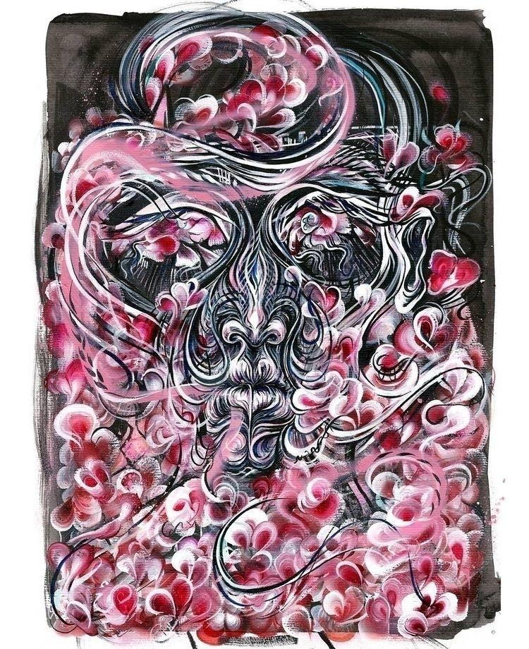 Hibernate  - art, painting, paint - femsorcell | ello