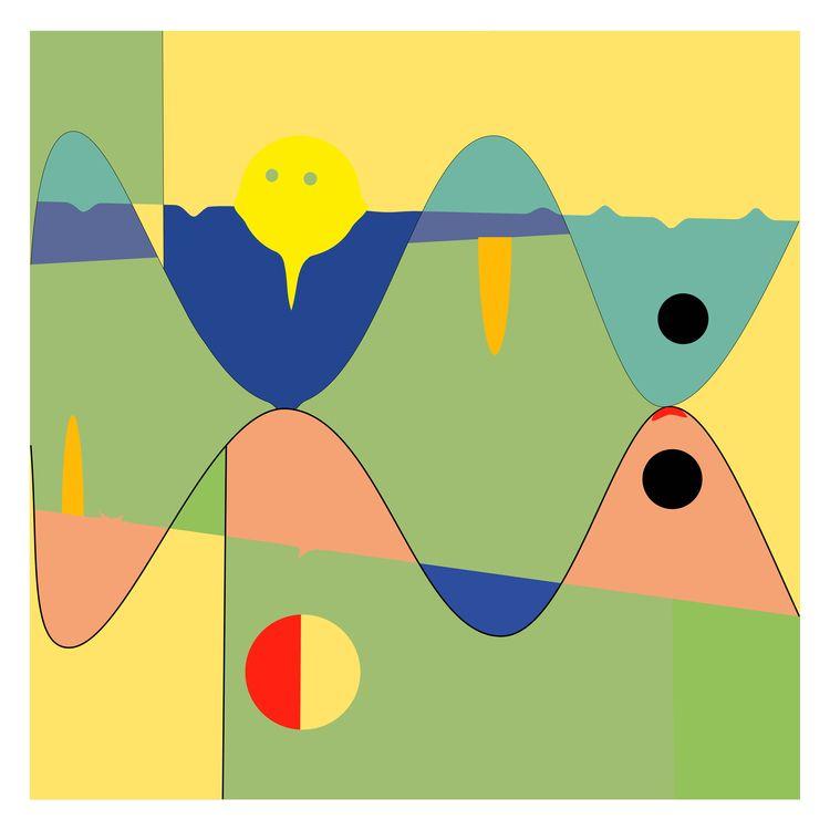 Yellow - digitalart, abstractart - halehj | ello