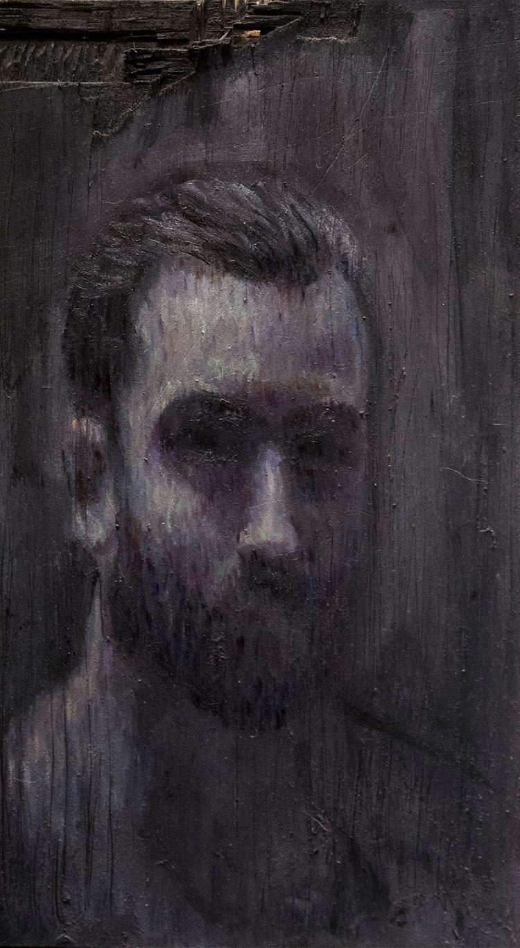 Portrait) / Oil Wood 13 23.5 cm - armandocabba   ello