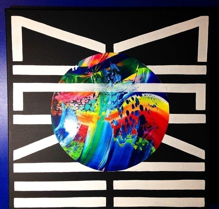 Acrylic paint canvas, 50 cm, 20 - nishe_ink | ello