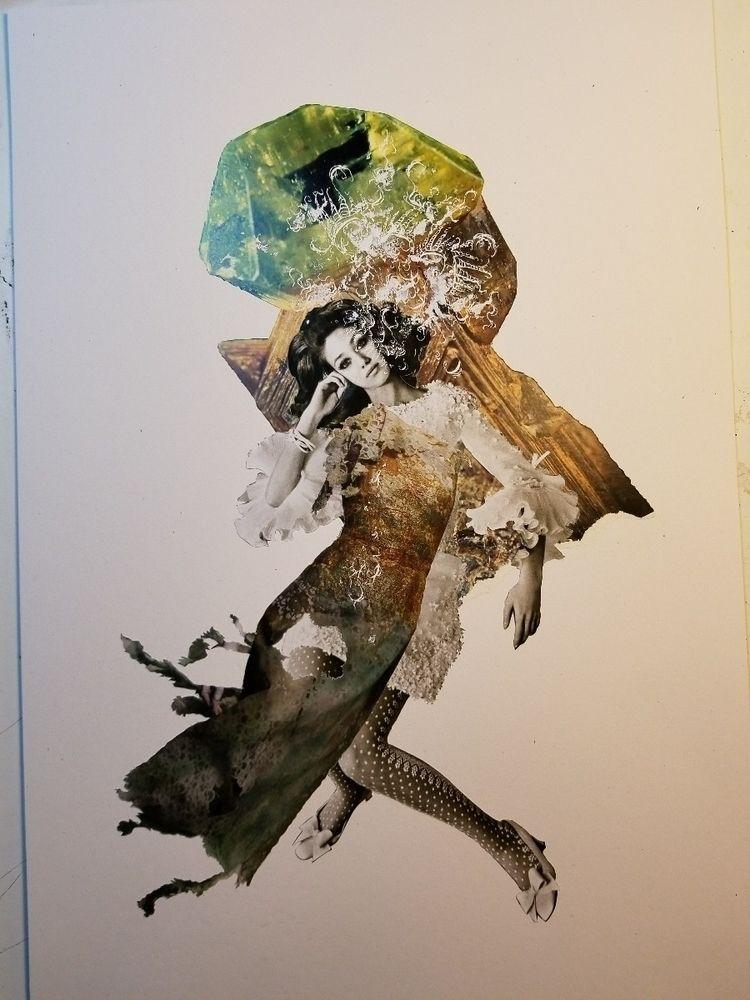 inked - collage, collageart, penandink - curtispatrickarnold | ello