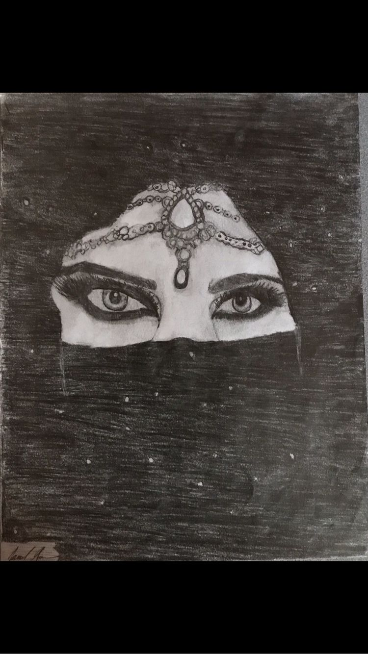drawing - art, woman, eyes, beautiful - sennari | ello