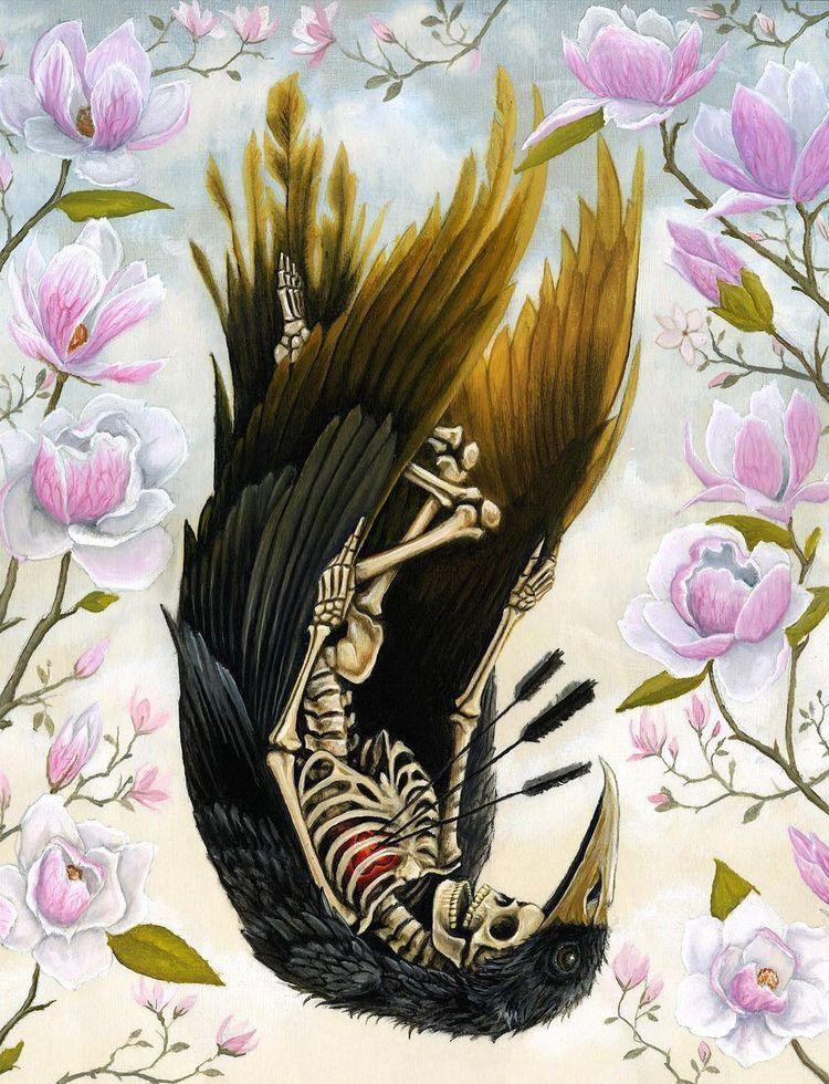 'Agnes Dreams Falling Flowers'  - wowxwow | ello