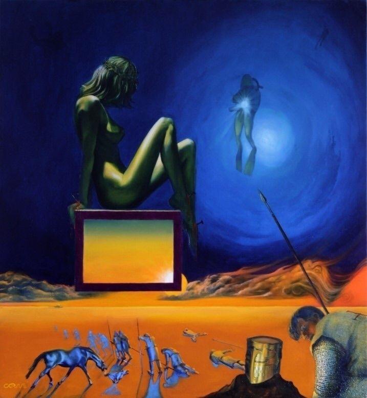 Loving alien (2011) (sold) Oil  - corneakkers | ello