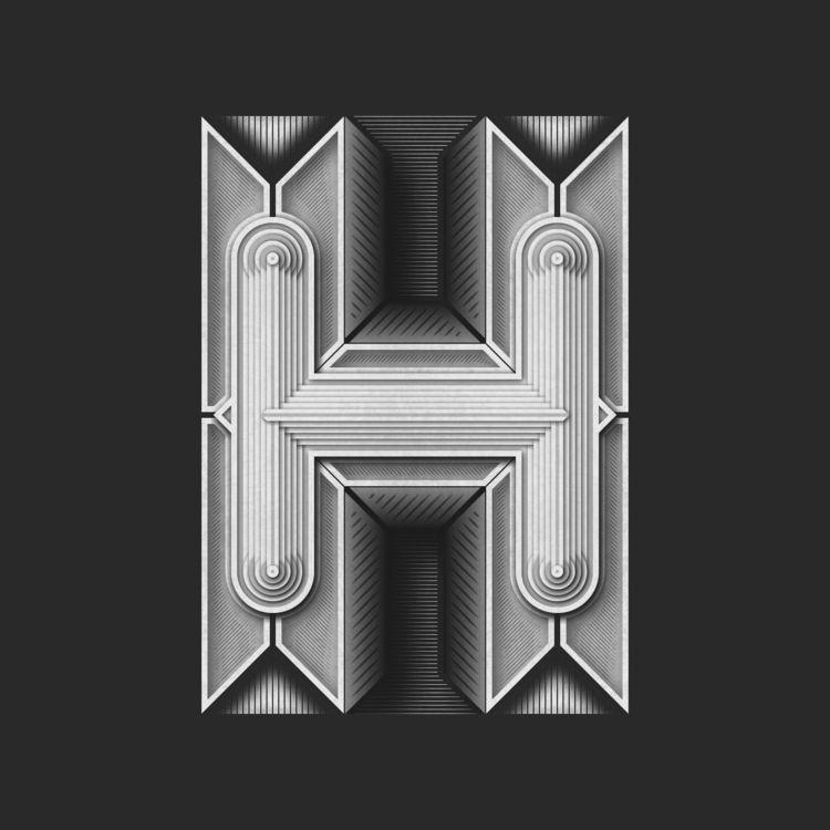 Home Letters - Typography illus - brunobua | ello