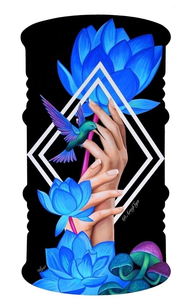 """Time Healer"" Acrylic wood Humm - artofsya | ello"