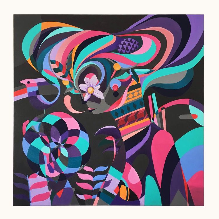 Fulminante acrylic canvas 80cm  - jotapepax | ello