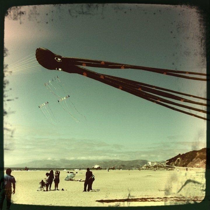 Ocean Beach Invader - bigee926 | ello