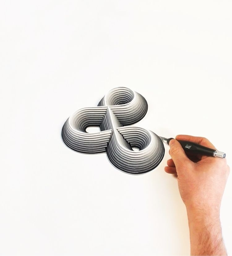 infinity papercut, black white - e_known | ello