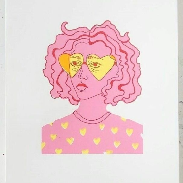 screenprint - girl, illustration - ellis_tolsma | ello
