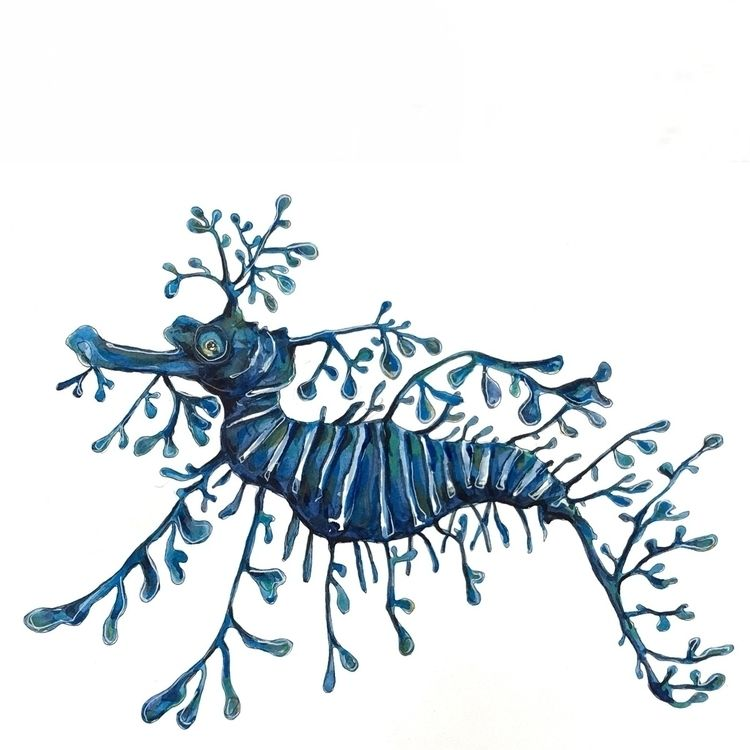 leafyseadragon, design, art, painting - aliellydesign | ello