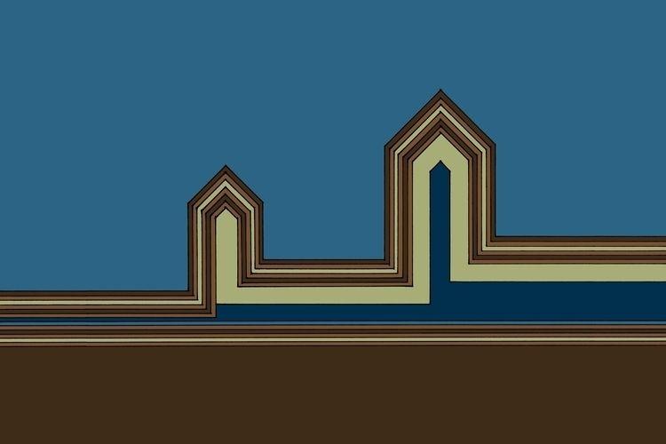 Line Houses - Color Digitalized - istvanocztos | ello