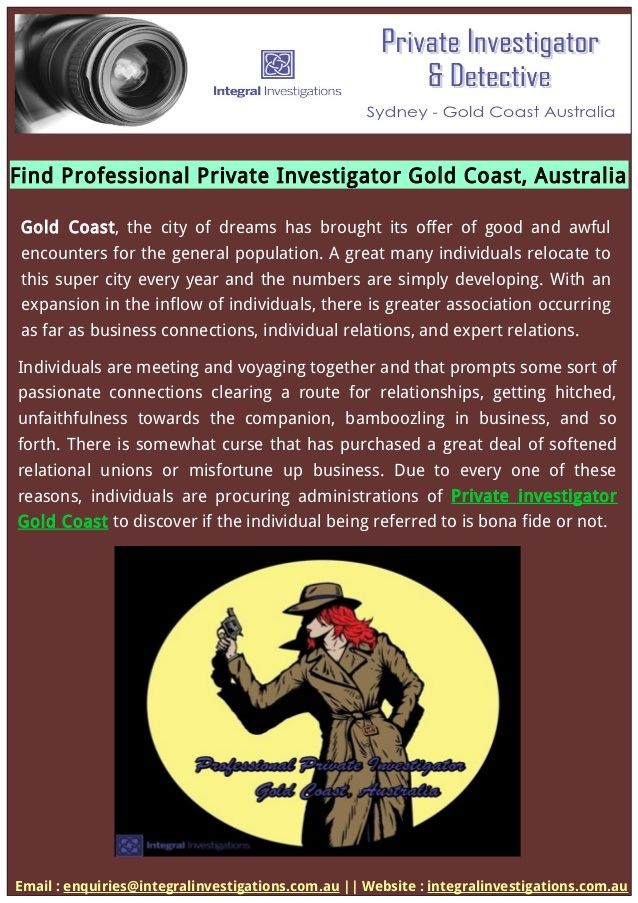 Find - PrivateInvestigatorGoldCoast - integralinvestigations | ello