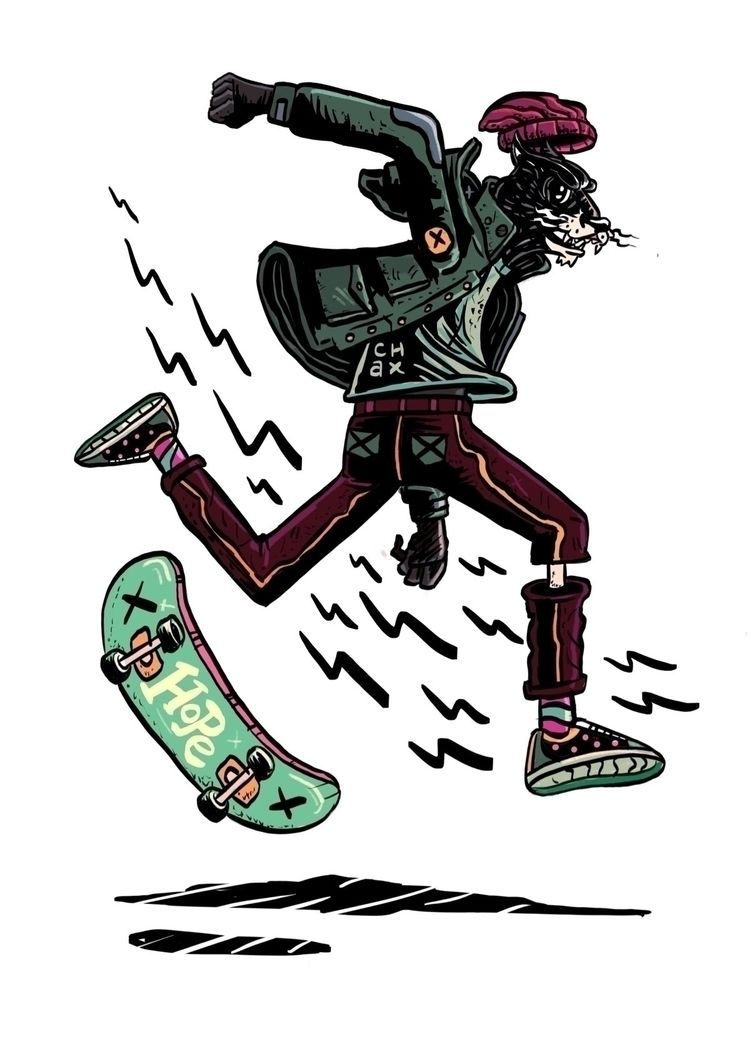 Skate Life.  - whackoink, illustration - whackoink | ello