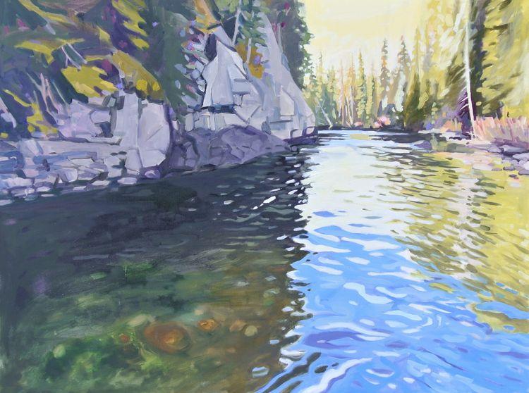 Secret River 30 36 oil canvas - marktworow | ello