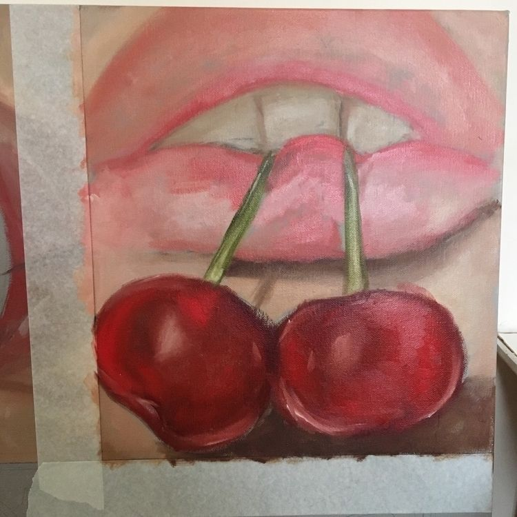 WIP!! Layer - wip, cherries, lips - aoifedillon | ello