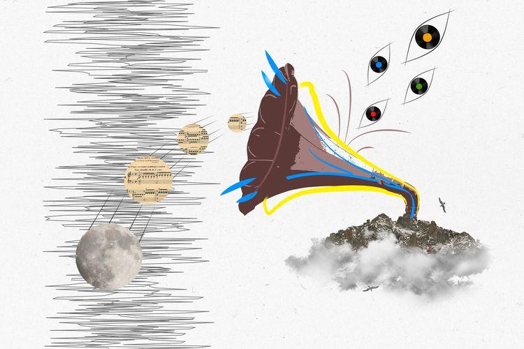 music, collage, graphic, design - alnikoloff | ello