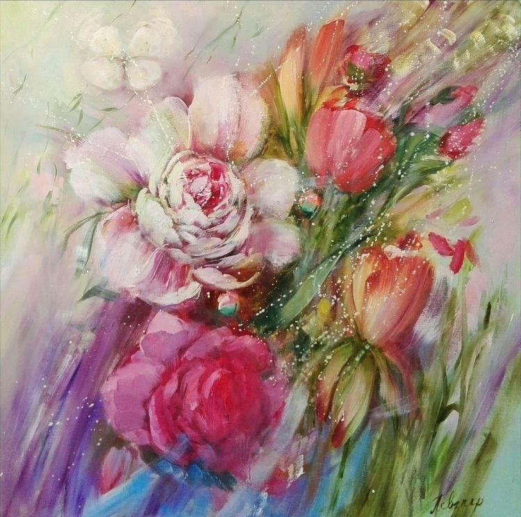 Love Message. Oil Canvas, 100х1 - natashapevzner | ello
