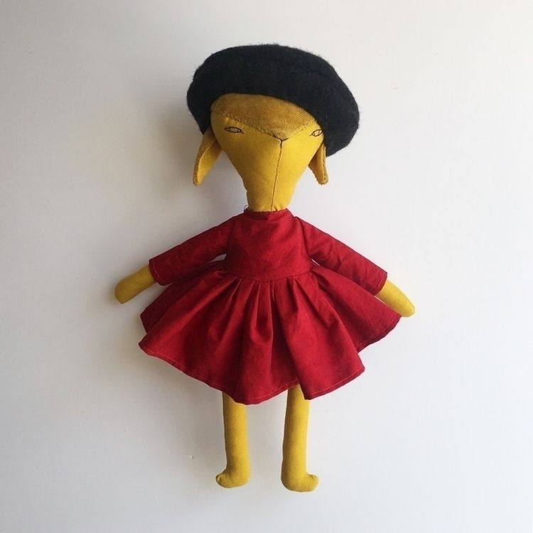 Classic red dress cutest beret  - adas_dolls | ello