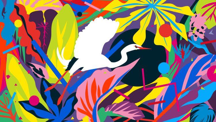 great white egret. Mariery Youn - mezclaostudio | ello