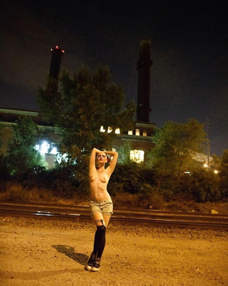 nsfw, night, topless, public - heycalvin | ello