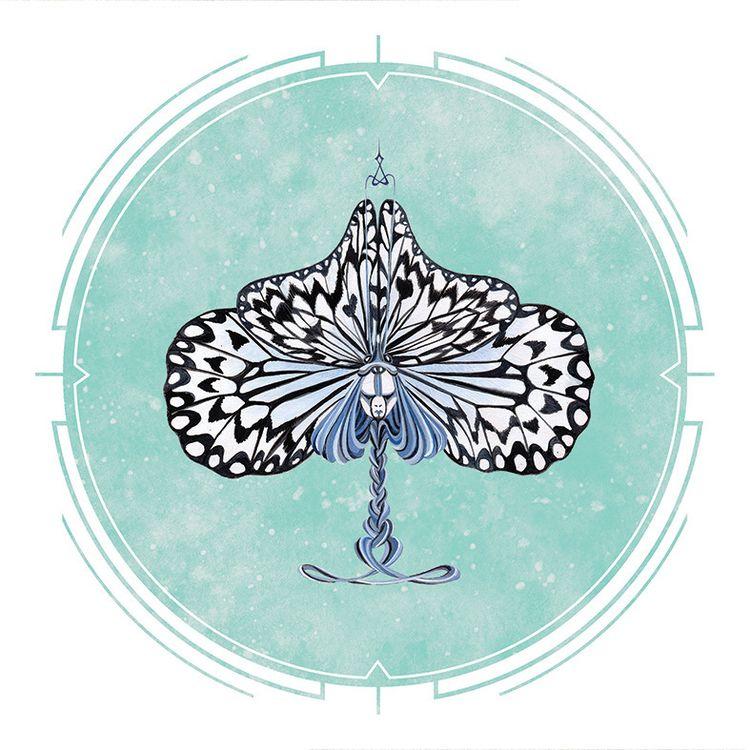 POKER HEADS Paper Kite Butterfl - mosswater   ello