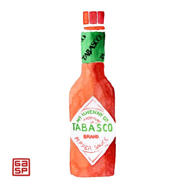 Hot sauces watercolors - juanjogasp   ello