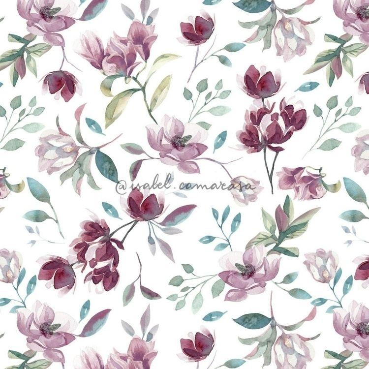 SPRING - spring, botanical, pattern - isabelcamarasa | ello