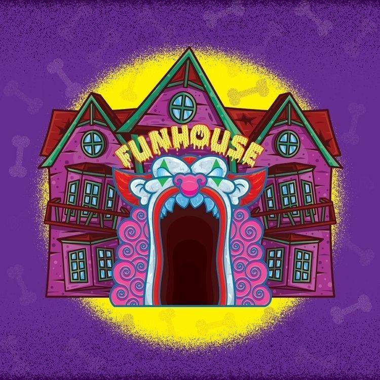 Funhouse illustration created 2 - beataobscura | ello