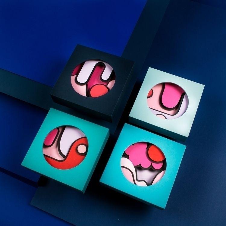 Small semi abstracts, 13x13 cm - hampusha | ello