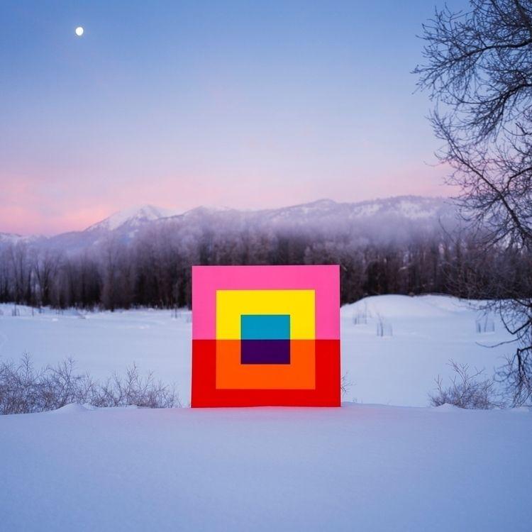 'Rebound' dawn moon  - ArtAiredOut - andrew_faris | ello