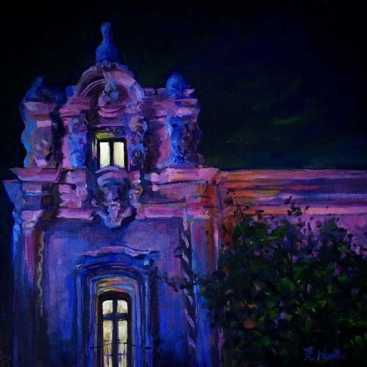 Prado Night. 12 oil board - divine_punk | ello